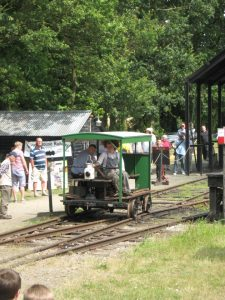 LNER type 17 Wickham trolley in action during the 2012 Light Railway Gala