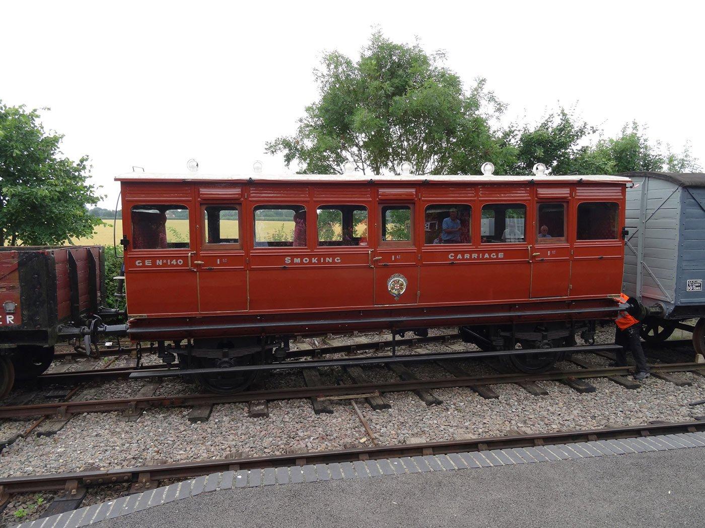 Three coach trains run again on the Middy this summer