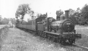 The MSLR's regular J15 no. 65447 with a mixed train at Old Newton