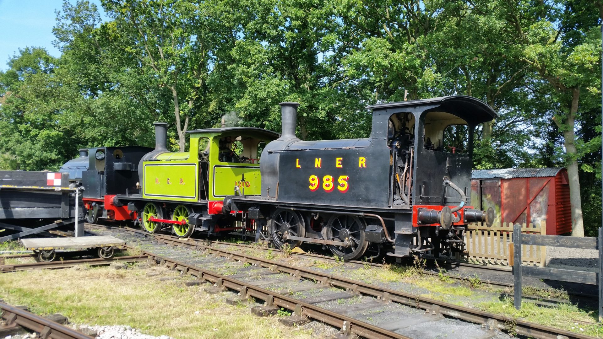 4 locos in steam featuring both surviving Y7s at Middy Gala