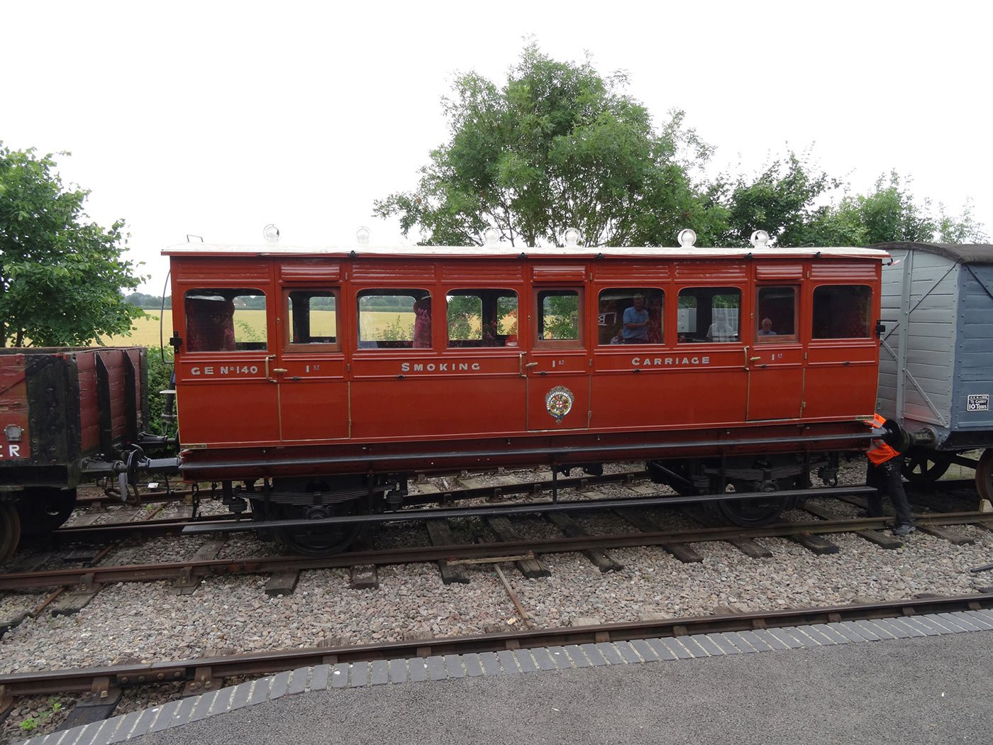Three coach trains run again on the Middy this summer