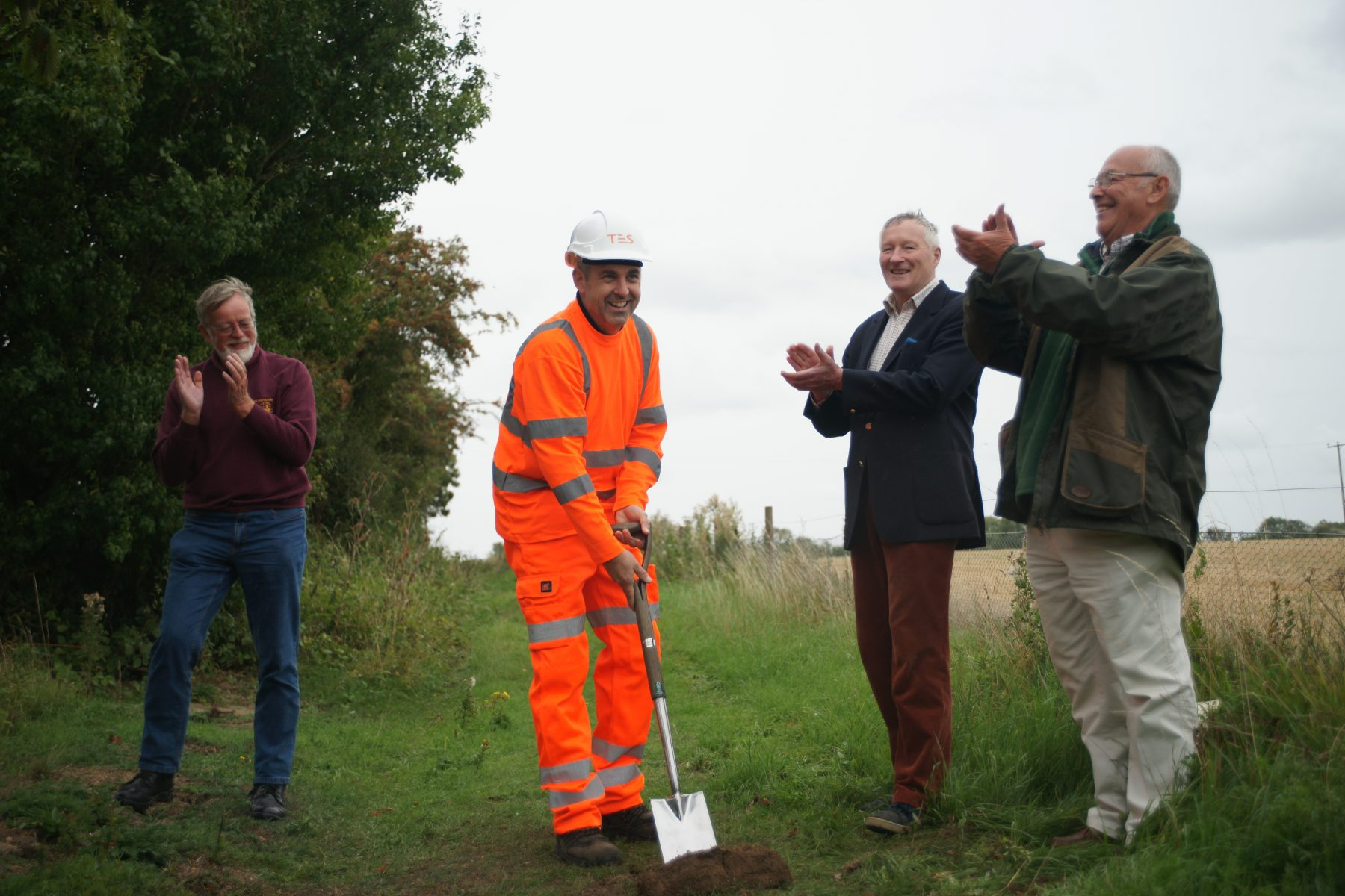 Cutting the 'First Sod' for the extension