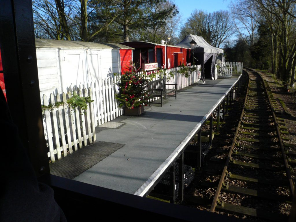 North Pole Halt - the arrival view from the Midland brake van.